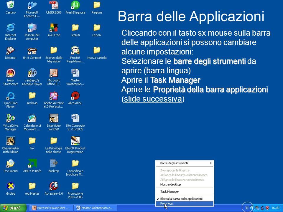 Barra delle Applicazioni