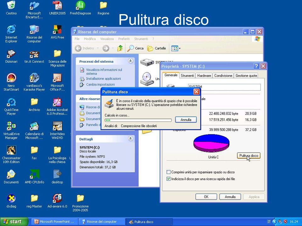 Pulitura disco