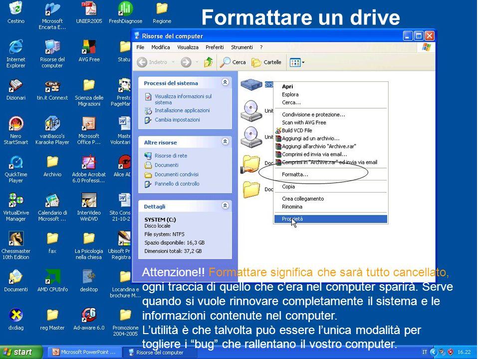 Formattare un drive