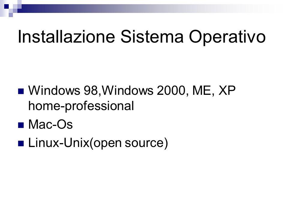 Installazione Sistema Operativo