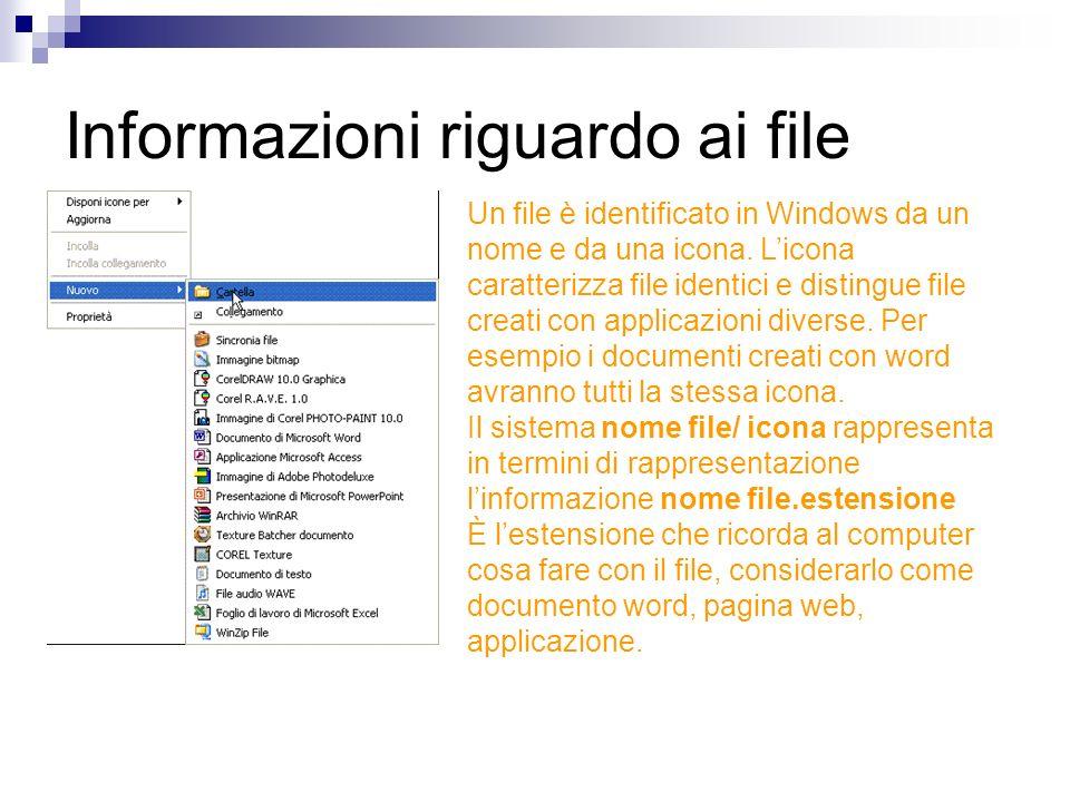Informazioni riguardo ai file