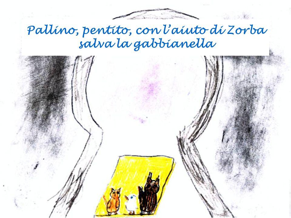 Pallino, pentito, con l'aiuto di Zorba salva la gabbianella