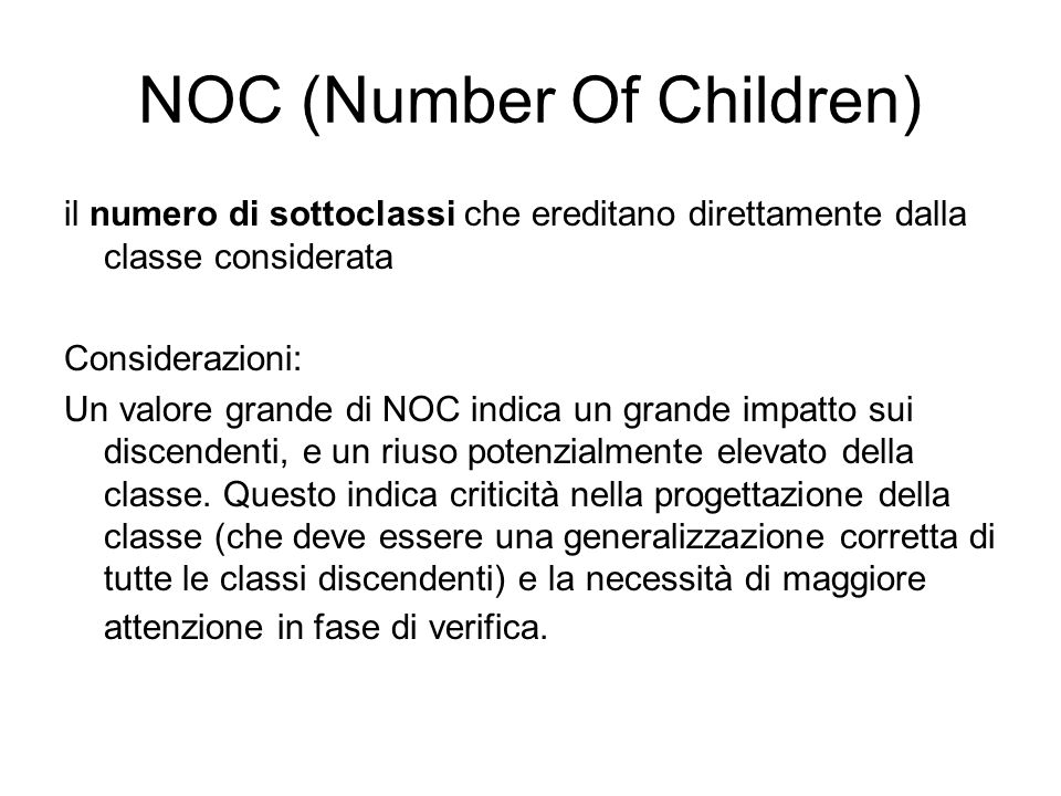 NOC (Number Of Children)