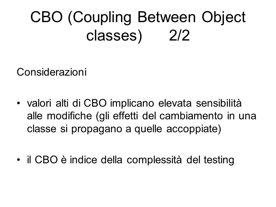 CBO (Coupling Between Object classes) 2/2