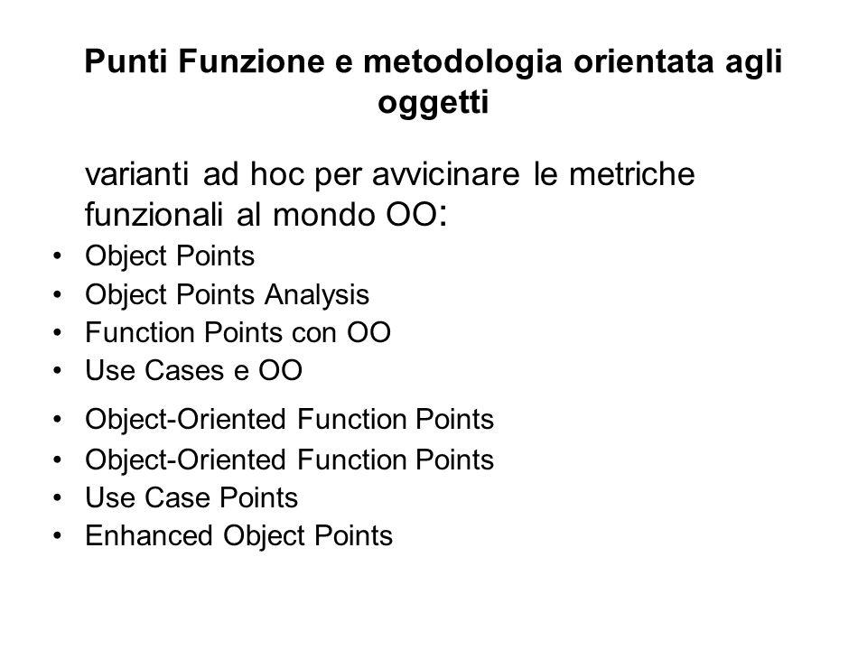 Punti Funzione e metodologia orientata agli oggetti
