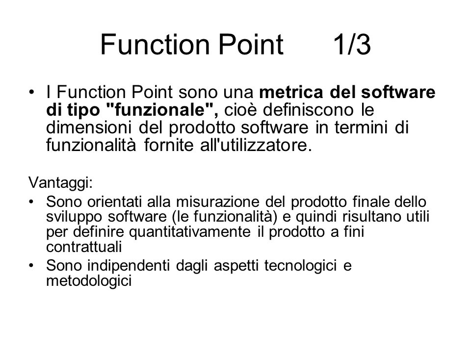 Function Point 1/3