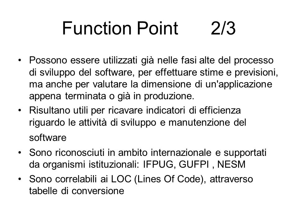 Function Point 2/3