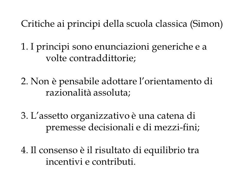Critiche ai principi della scuola classica (Simon) 1