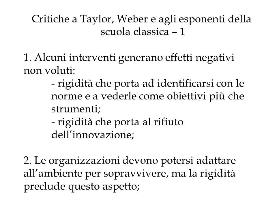 Critiche a Taylor, Weber e agli esponenti della. scuola classica – 1 1