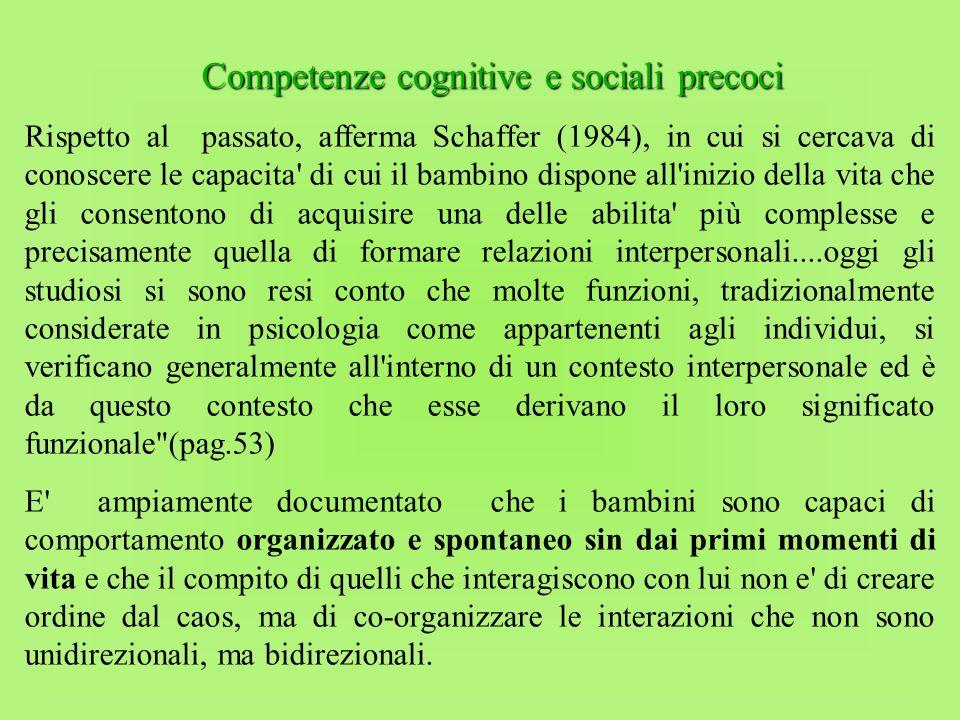 Competenze cognitive e sociali precoci
