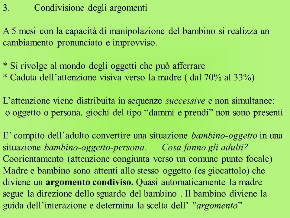 3. Condivisione degli argomenti