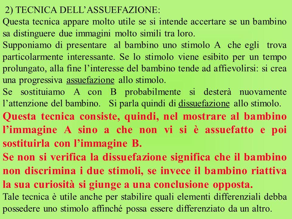 2) TECNICA DELL'ASSUEFAZIONE: