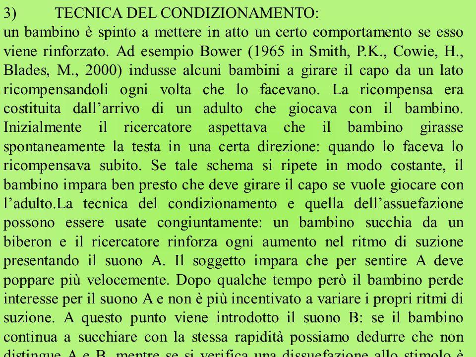 3) TECNICA DEL CONDIZIONAMENTO: