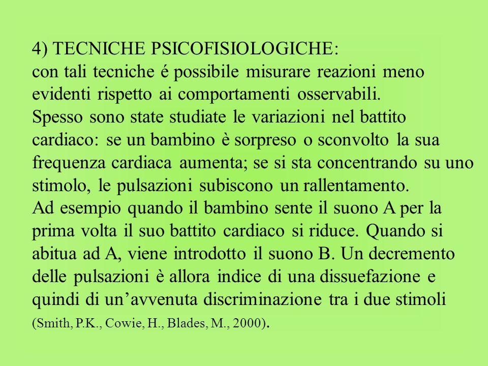 4) TECNICHE PSICOFISIOLOGICHE: