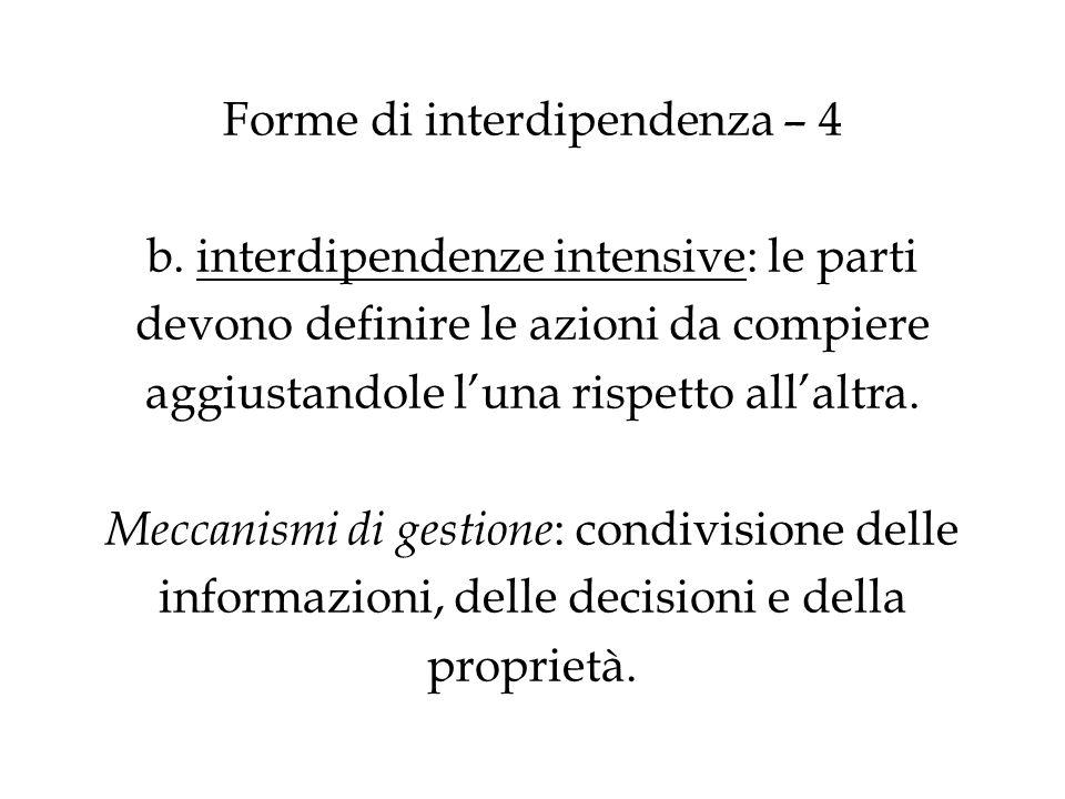 Forme di interdipendenza – 4 b