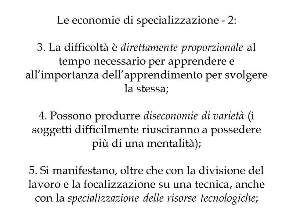 Le economie di specializzazione - 2: 3