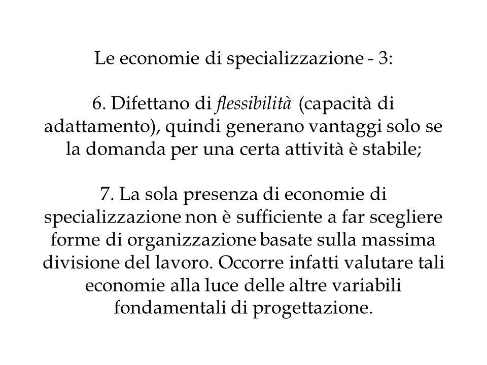 Le economie di specializzazione - 3: 6