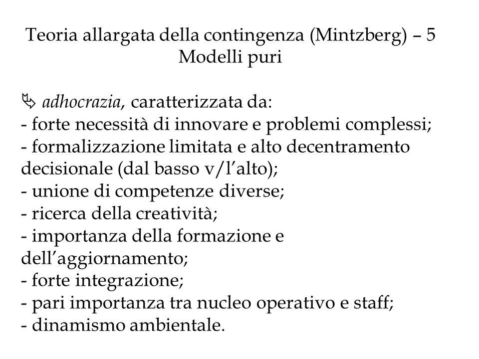 Teoria allargata della contingenza (Mintzberg) – 5