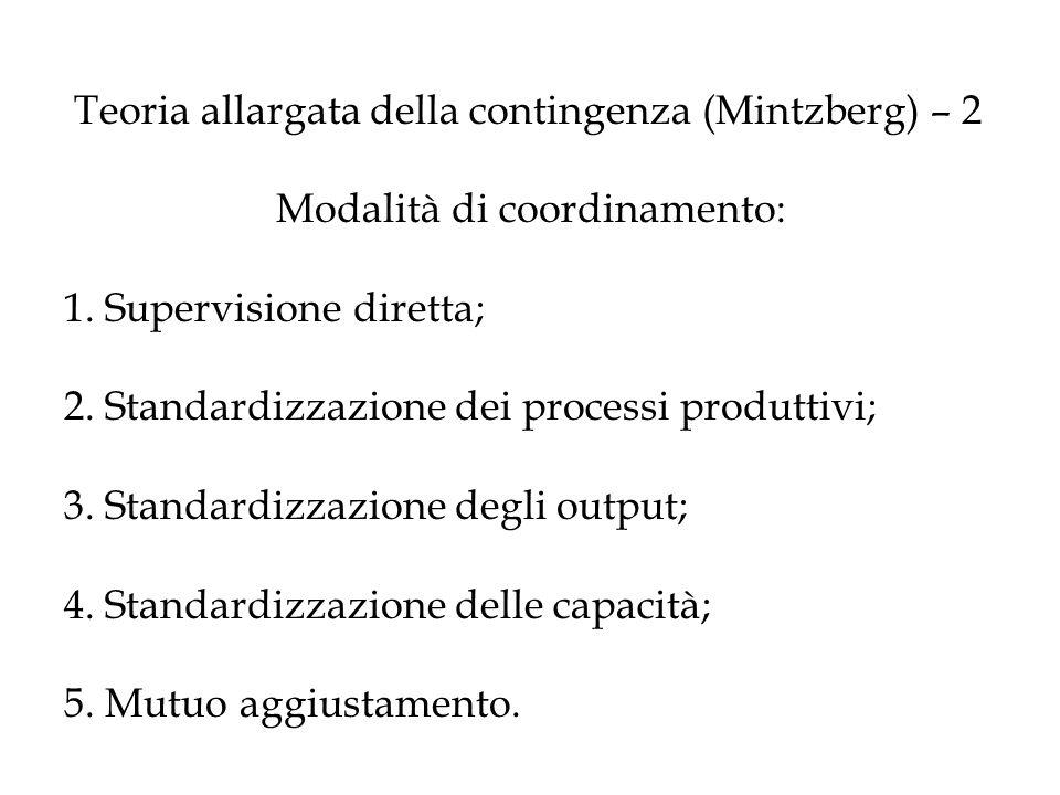 Teoria allargata della contingenza (Mintzberg) – 2