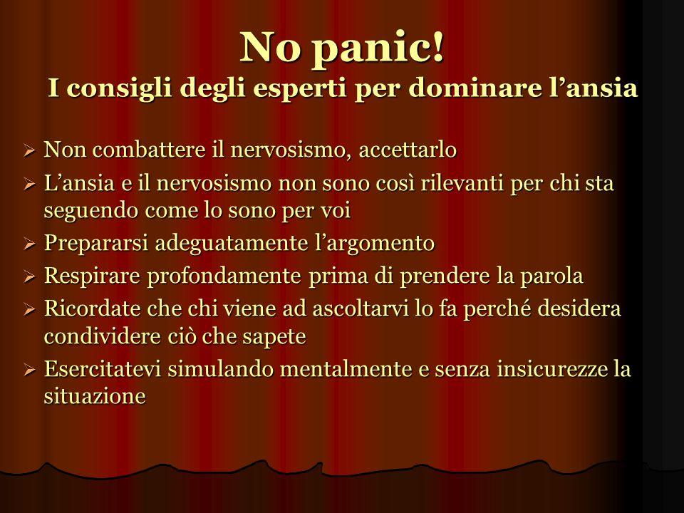 No panic! I consigli degli esperti per dominare l'ansia