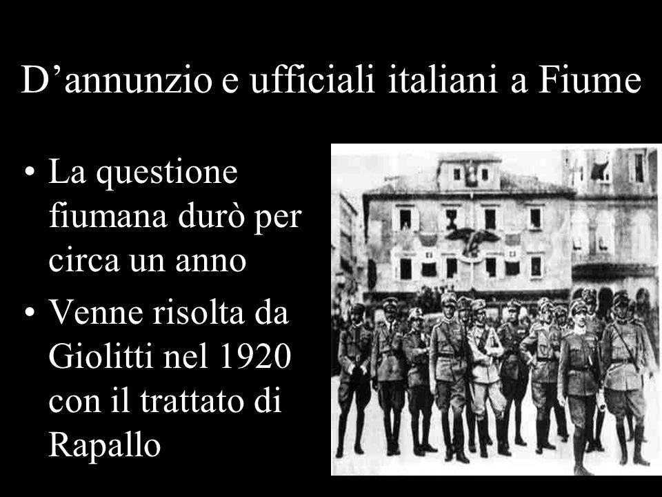 D'annunzio e ufficiali italiani a Fiume
