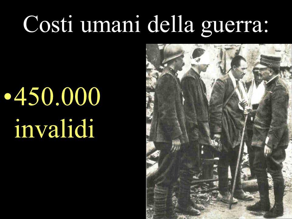 Costi umani della guerra: