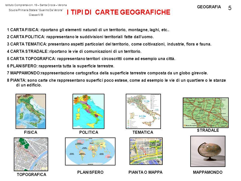 I TIPI DI CARTE GEOGRAFICHE
