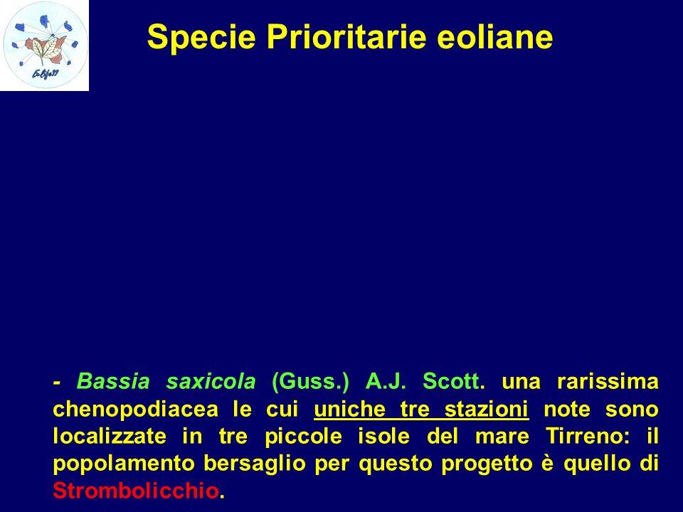 Specie Prioritarie eoliane