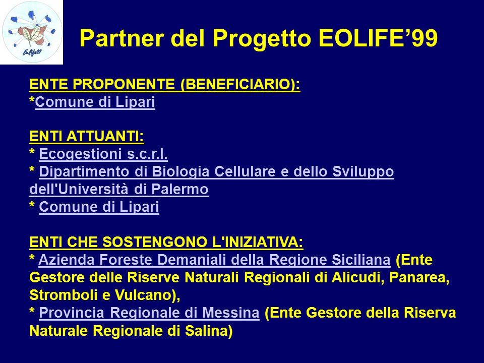 Partner del Progetto EOLIFE'99