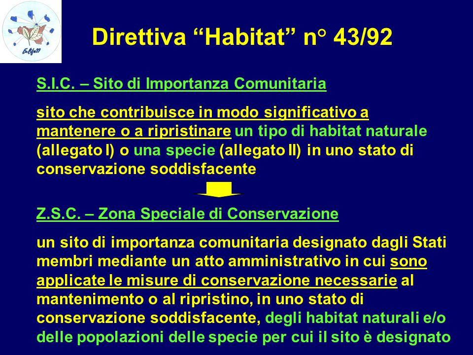 Direttiva Habitat n° 43/92