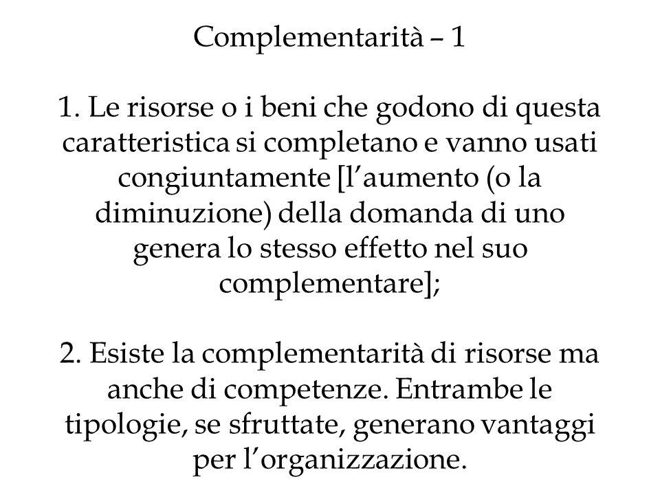 Complementarità – 1 1.