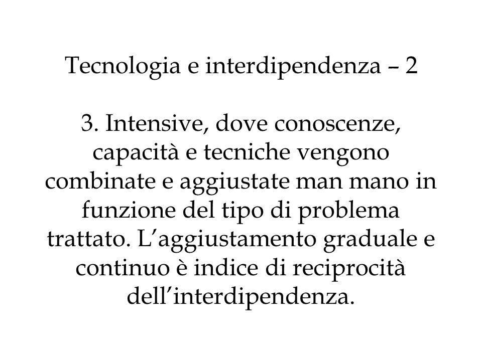 Tecnologia e interdipendenza – 2 3