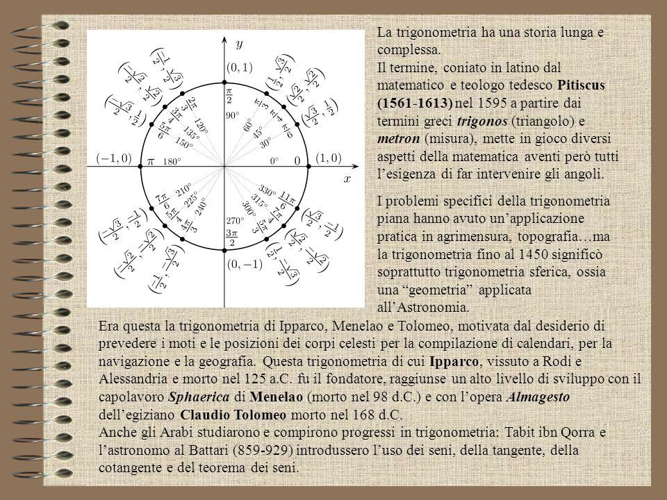 La trigonometria ha una storia lunga e complessa