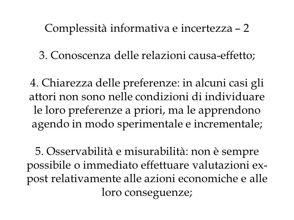 Complessità informativa e incertezza – 2 3