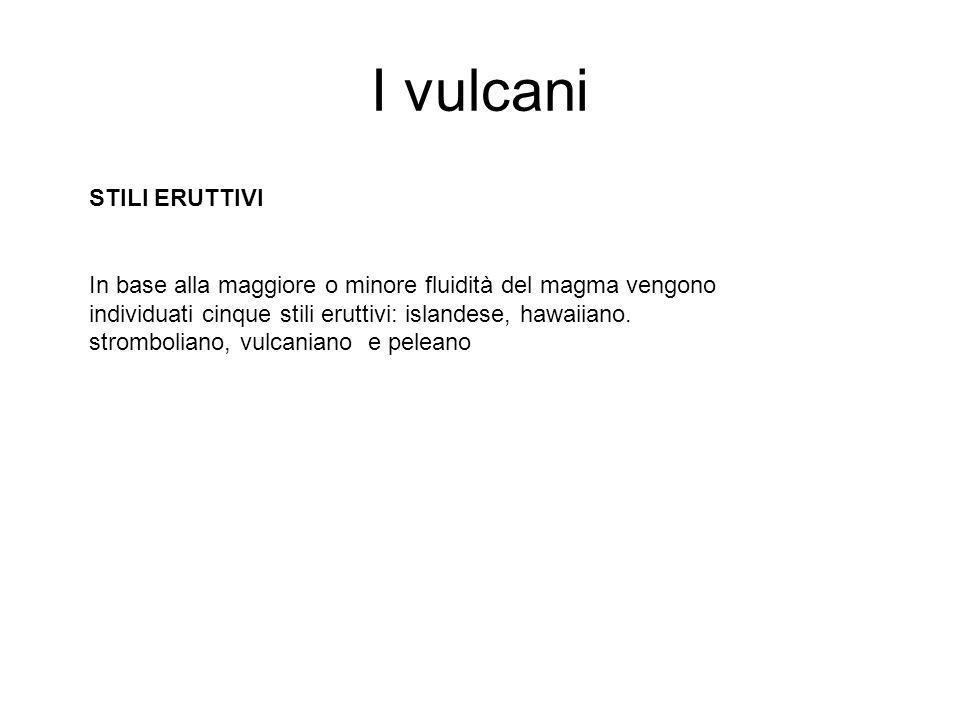 I vulcani STILI ERUTTIVI