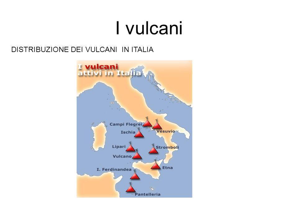 I vulcani DISTRIBUZIONE DEI VULCANI IN ITALIA