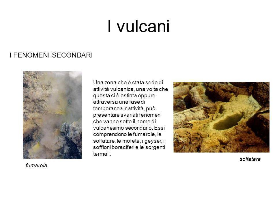 I vulcani I FENOMENI SECONDARI