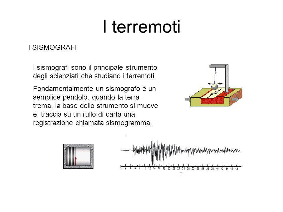I terremoti I SISMOGRAFI