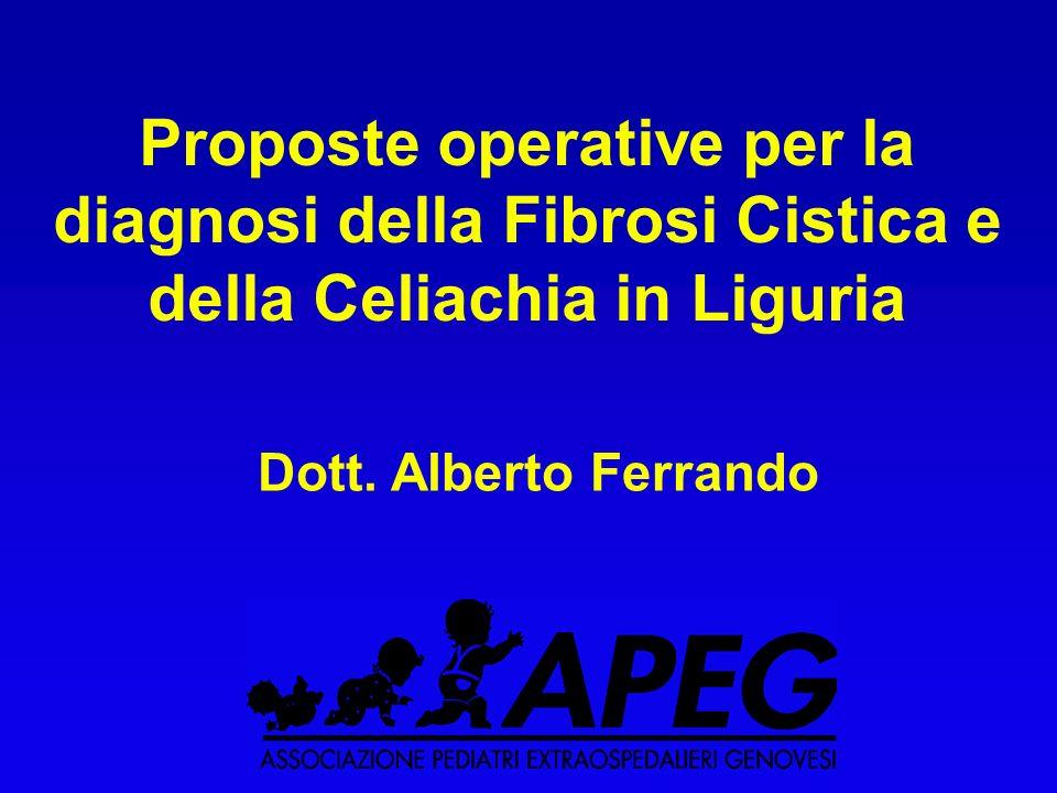 Proposte operative per la diagnosi della Fibrosi Cistica e della Celiachia in Liguria