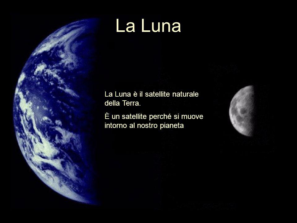 La Luna La Luna è il satellite naturale della Terra.