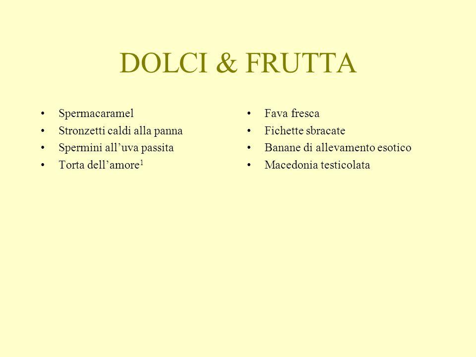 DOLCI & FRUTTA Spermacaramel Stronzetti caldi alla panna