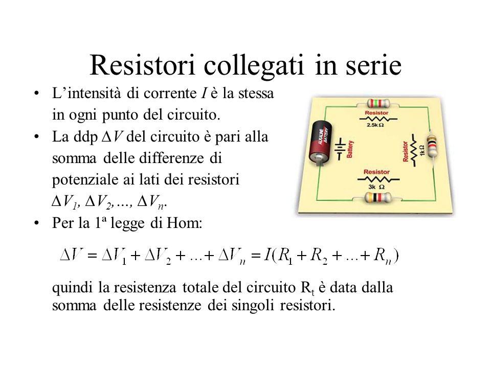 Resistori collegati in serie