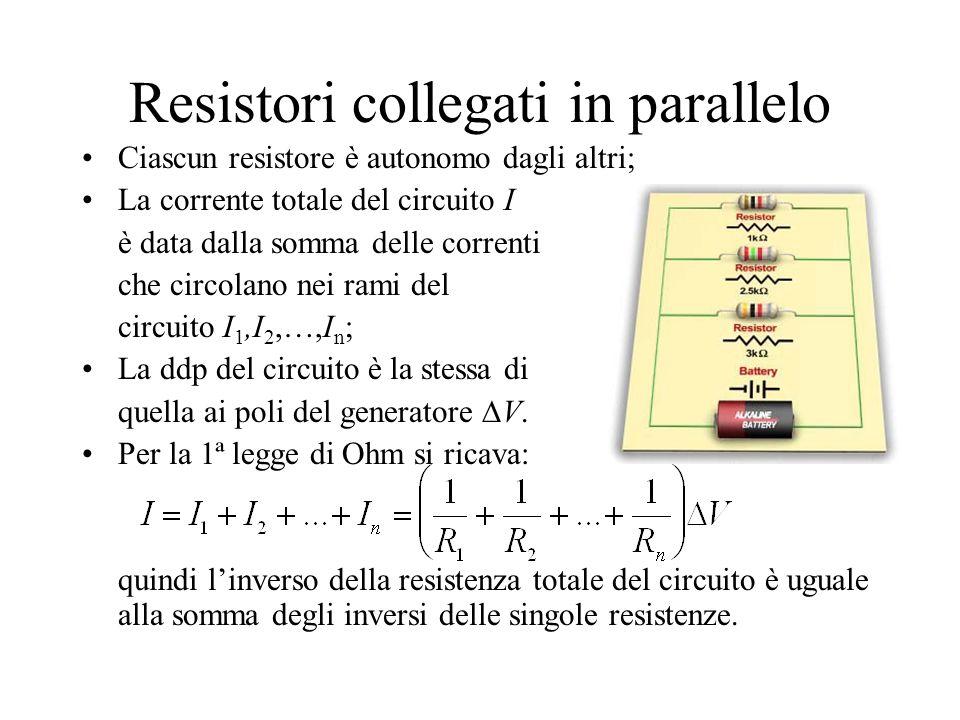 Resistori collegati in parallelo