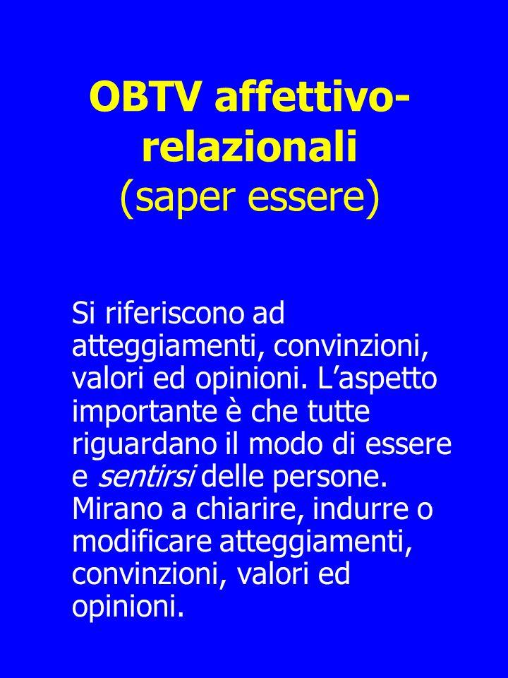 OBTV affettivo-relazionali (saper essere)