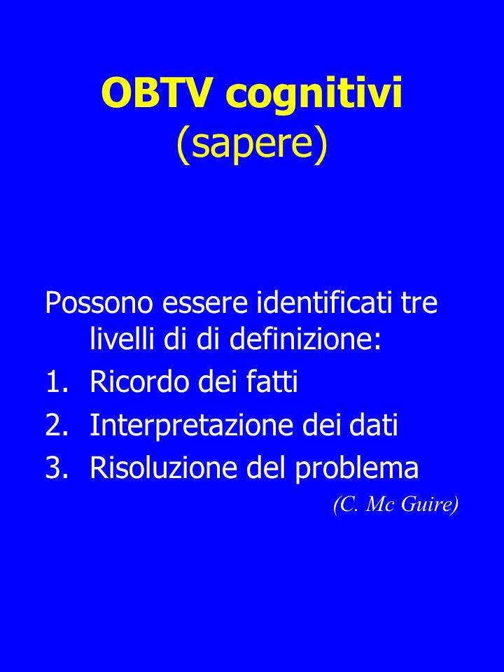 OBTV cognitivi (sapere)