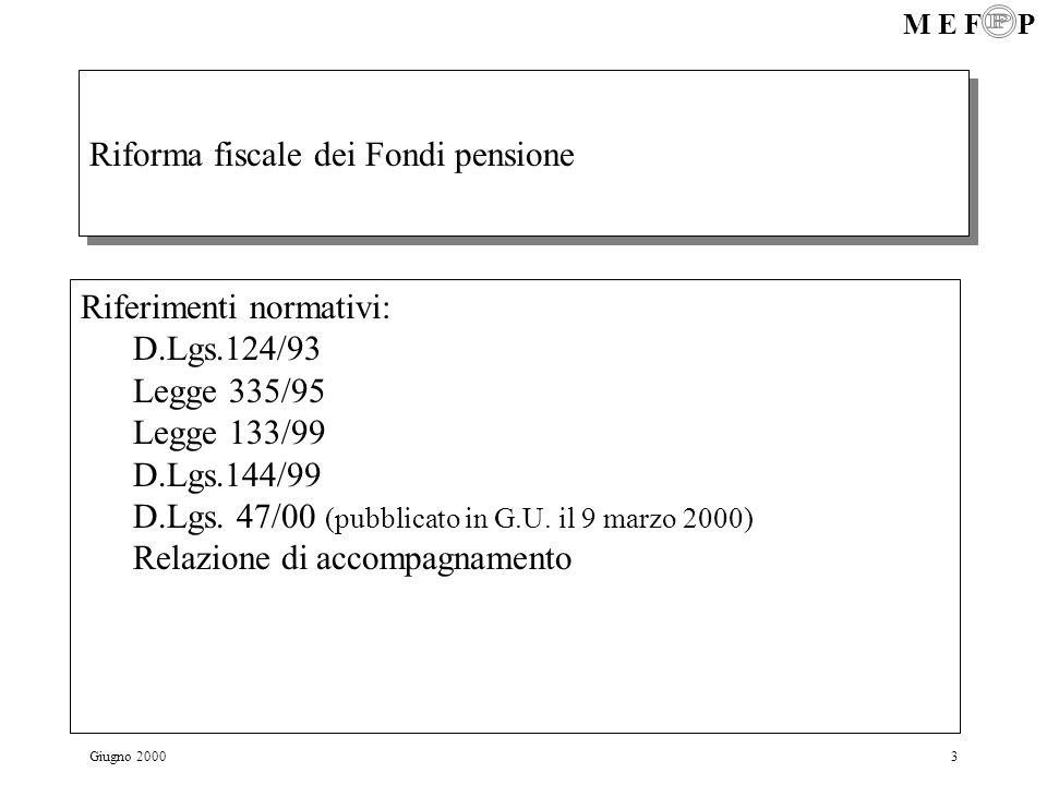 Riforma fiscale dei Fondi pensione