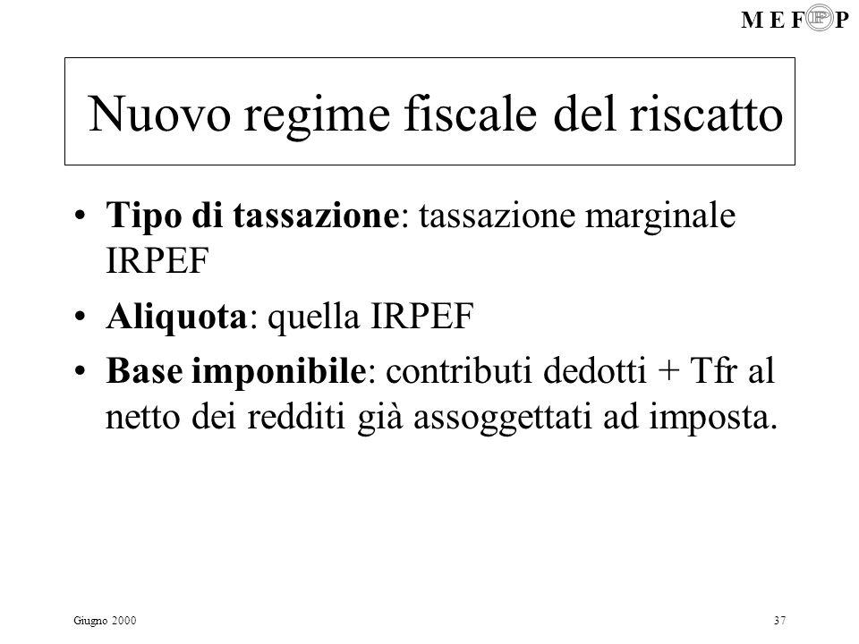 Nuovo regime fiscale del riscatto