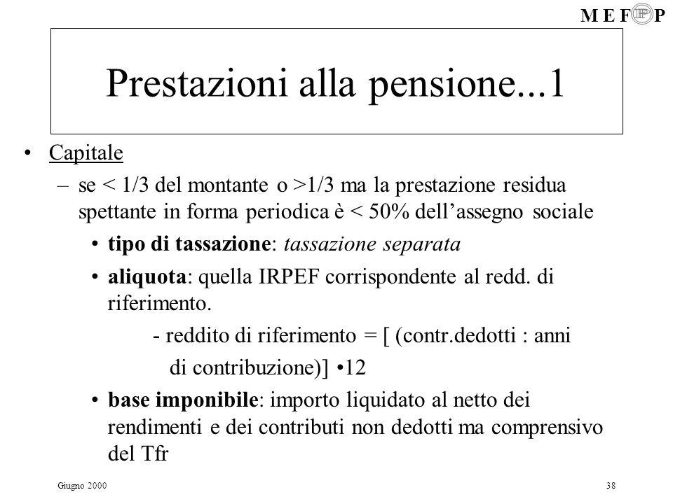 Prestazioni alla pensione...1
