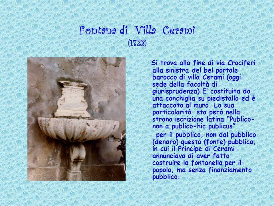 Fontana di Villa Cerami (1723)