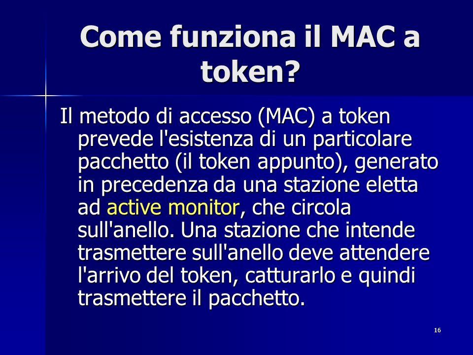 Come funziona il MAC a token